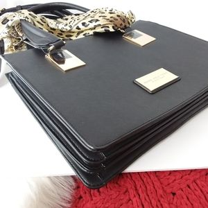 Andrew Marc | Black Scarf File Carrier Purse